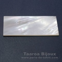 Forma rettangolo in Madreperla - 50 x 25 x 1 mm
