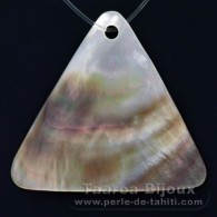 Forma Triangolo in madreperla di Tahiti - 40 x 44 mm