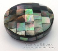 Forma nugget in madreperla - 29 x 26 x 16 mm