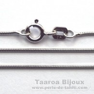 Catena in Argento .925 Rodio - Lunghezza = 40 cm / Diametro = 0.9 mm