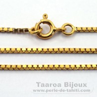 Catena in Oro 18K - Lunghezza = 45 cm / Diametro = 1.1 mm