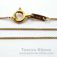 Catena in Oro 18K - Lunghezza = 42 cm / Diametro = 0.5 mm