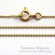 Catena in Oro 18K - Lunghezza = 45 cm / Diametro = 1 mm