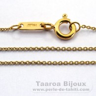 Catena in Oro 18K - Lunghezza = 42 cm / Diametro = 0.9 mm